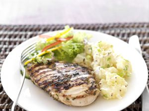 Grilled Chicken with Potato Salad recipe