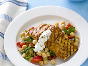 Grilled Fish with Chickpea Salad recipe