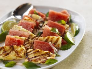 Grilled Halloumi with Watermelon recipe