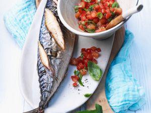 Grilled Mackerel with Tomato Salad recipe