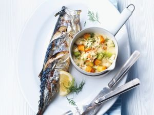 Grilled Mackerel with Vegetables recipe
