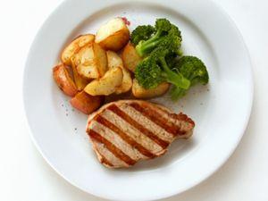 Grilled Pork Steak with Vegetables recipe