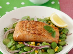 Grilled Salmon with Mexican Salad recipe