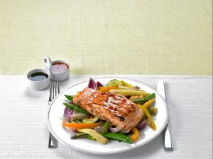 Grilled Salmon with Vegetables recipe