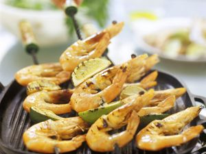 Grilled Shrimp and Lime Skewers recipe