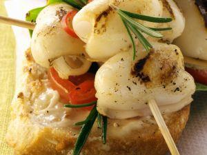 Grilled Squid Toasts recipe