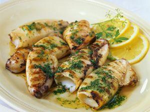 Grilled Squid Tubes recipe