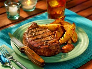 Grilled Steak with Sweet Potato Wedges recipe