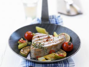 Grilled Tuna with Vegetables recipe