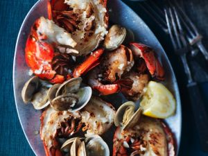 Grilled Lobster with Garlic Butter recipe