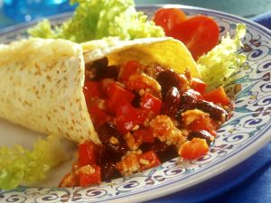 Bean and Bean Tortilla Wraps recipe