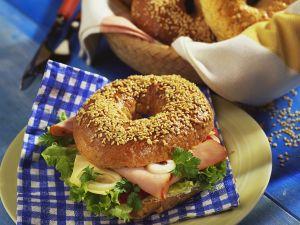 Ham and Cheese Bagel Sandwich recipe