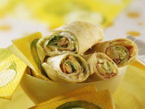 Ham and Cheese Wraps recipe