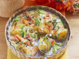 Ham and Potato Bake recipe