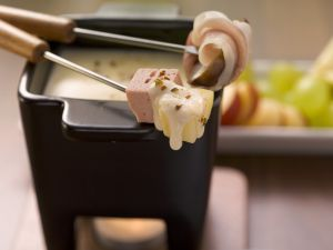 Ham and Potato Swiss Cheese Fondue recipe