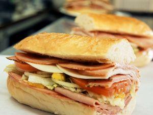 Ham and Tomato Sandwich on Baguette recipe