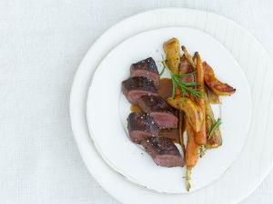 Hare with Root Vegetables and Quince recipe