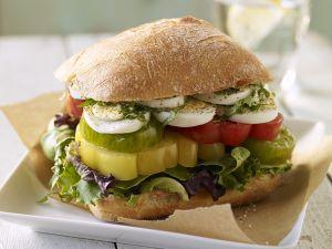 Sliced Heritage Tomato Sandwiches recipe