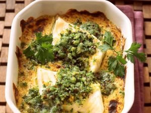 Herby White Fish Gratin recipe