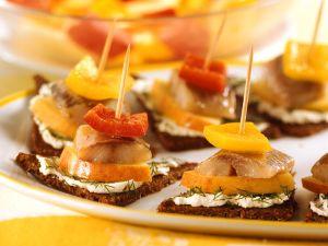 Herring and Apple Sandwich on Pumpernickel recipe