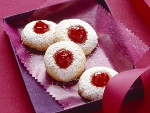 Husarenkrapfen (German Thumb Print Cookies) recipe