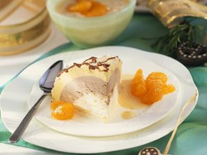 Ice Cream Layer Cake with Apricot Sauce recipe