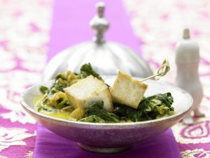Indian Cheese in Coconut Spinach recipe