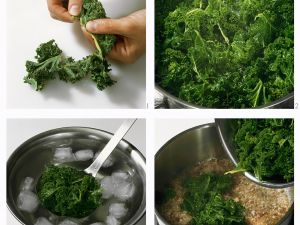 Kale with Bacon and Onions recipe