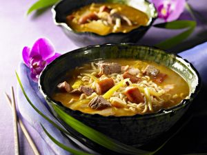 Korean Stew with Beef, Vegetables and Noodles recipe
