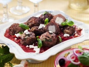Lamb and Feta Meatballs with Tomato Sauce recipe