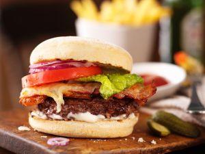 Lamb Bacon Cheeseburger recipe