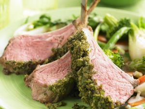 Lamb Chops with Herb Crust recipe