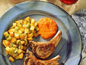 Lamb Chops with Potatoes recipe