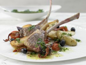 Lamb Chops with Salsa Verde recipe