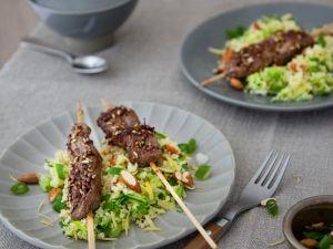 Lamb Loin Skewers with Bulgur Salad recipe
