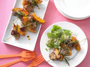Lamb Skewers with Bulgur Salad recipe