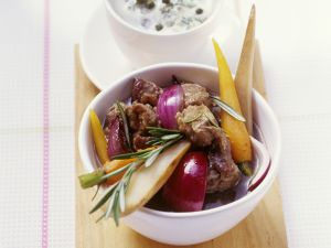 Lamb Stew with Carrots, Onions, Parsnips and Potatoes recipe