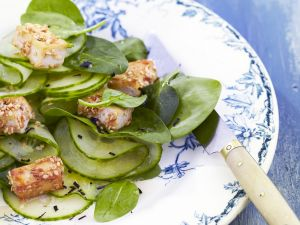 Cucumber Salad with Fried Tofu recipe