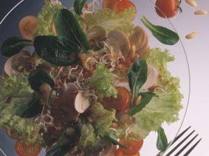 Lamb's Lettuce Salad with Radish Sprouts recipe