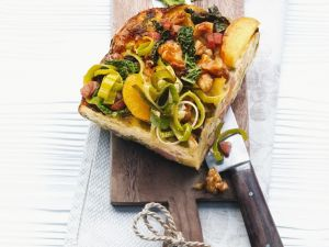 Leek, Apple and Cabbage Quiche recipe