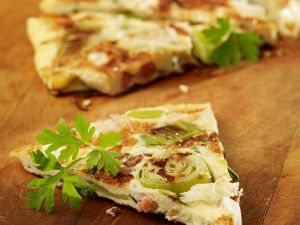 Leek, Bacon and Manchego Frittata recipe