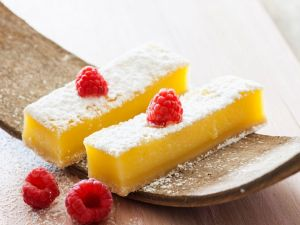 Lemon Bars with Raspberries recipe