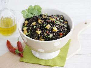 Lentil, Mango, Chili and Cilantro Salad recipe