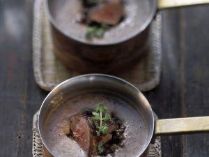 Lentil Soup with Rabbit Liver recipe