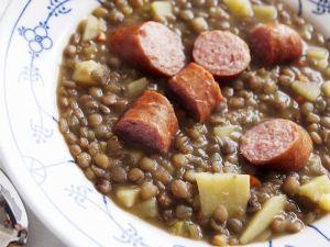 Lentil Soup with Sausage recipe