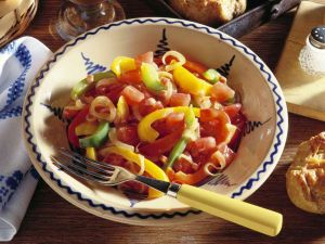 Letscho (Bacon with Peppers, Onions and Tomatoes) recipe