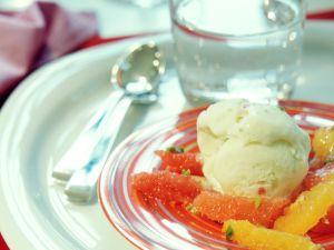 Lime Ice Cream with Citrus Salad recipe