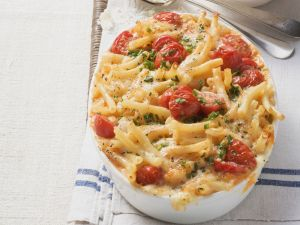 Macaroni and Cheese with Tomatoes recipe