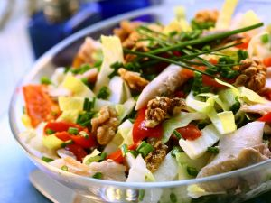 Mackerel Salad with Endives, Peppers and Walnuts recipe