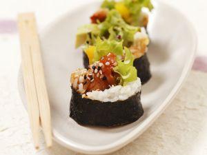 Maki Sushi with Baked Fish recipe